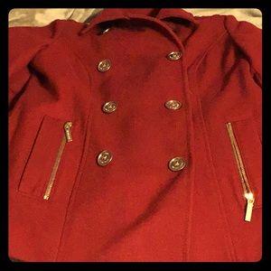 Red size 8 Michael Kors Coat